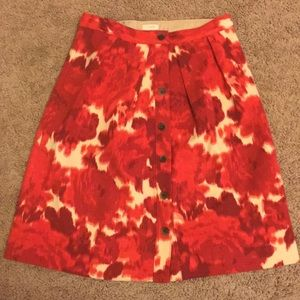 GORGEOUS J. Crew Floral Flare Skirt